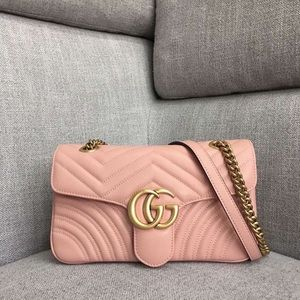 AUTHENTIC GUCCI marmont bag PINK